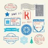 Geplaatste de Zegels van Kerstmis Royalty-vrije Stock Fotografie