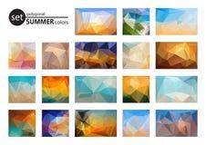 Geplaatste de zomerkleuren Stock Foto's