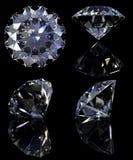 Geplaatste diamanten Stock Afbeeldingen