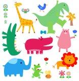 Geplaatste dieren Stock Foto