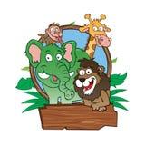 Geplaatste dierentuindieren Stock Foto's