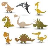 Geplaatste dinosaurussen Stock Afbeelding