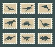 Geplaatste dinosaurussen Stock Foto