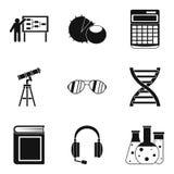 Geplaatste doctrinepictogrammen, eenvoudige stijl Stock Foto