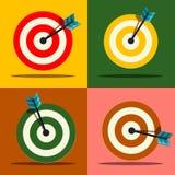 Geplaatste doelpictogrammen Vector Royalty-vrije Stock Afbeeldingen