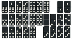 Geplaatste domino's Stock Fotografie