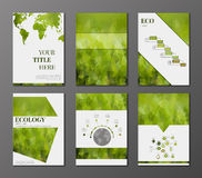 Geplaatste Ecobrochures Stock Afbeelding