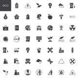 Geplaatste ecologie vectorpictogrammen royalty-vrije illustratie
