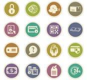 Geplaatste elektronische handelpictogrammen Royalty-vrije Stock Afbeelding