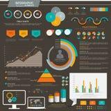 Geplaatste elementen de bedrijfs van Infographic Royalty-vrije Stock Afbeelding