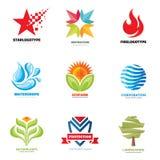 Geplaatste embleemvector - creatieve illustraties Logo Collection Vectorembleemontwerp Vectorembleemmalplaatje De elementen van h Stock Afbeeldingen