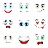 Geplaatste emoties, vierkant Royalty-vrije Stock Foto