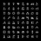 Geplaatste energiepictogrammen Stock Afbeelding