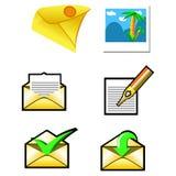 Geplaatste enveloppen vector illustratie
