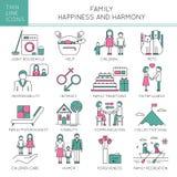 Geplaatste familiewaarden royalty-vrije illustratie