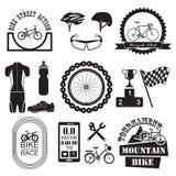 Geplaatste fietspictogrammen Royalty-vrije Stock Foto's