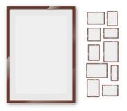 Geplaatste frames Stock Foto's