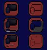 Geplaatste gadgetspictogrammen Royalty-vrije Stock Afbeeldingen