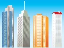 Geplaatste gebouwen - 1 Royalty-vrije Stock Foto