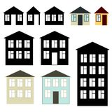 Geplaatste gebouwen Royalty-vrije Stock Afbeeldingen