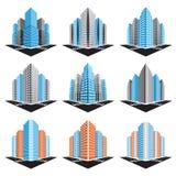 Geplaatste gebouwen vector illustratie