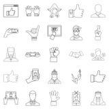 Geplaatste gevoels de pictogrammen, schetsen stijl Stock Foto