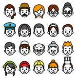 Geplaatste gezichten, beroepscategorie vector illustratie