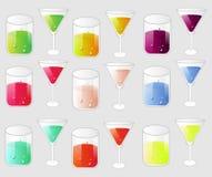 Geplaatste glazen Stock Fotografie