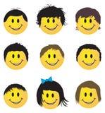 Geplaatste glimlachen Stock Foto