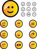 Geplaatste glimlachen Royalty-vrije Stock Afbeeldingen
