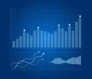 Geplaatste grafieken en grafieken stock illustratie