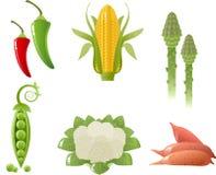 Geplaatste groenten Stock Foto's