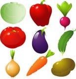 Geplaatste groenten Stock Afbeelding