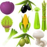 Geplaatste groenten Royalty-vrije Stock Foto's