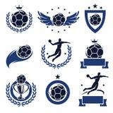 Geplaatste handbaletiketten en pictogrammen. Vector Stock Afbeeldingen
