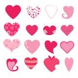 Geplaatste harten Royalty-vrije Stock Afbeelding