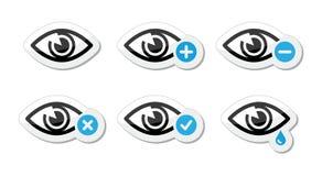 Geplaatste het gezichtspictogrammen van het oog -   Royalty-vrije Stock Fotografie