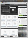 Geplaatste het ontwerpelementen van het Web. Online winkel 1