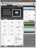 Geplaatste het ontwerpelementen van het Web. Online winkel 2