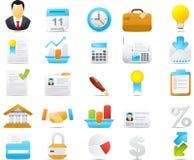 Geplaatste het pictogram van Nouve: Zaken en Financiën Royalty-vrije Stock Foto's