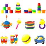 Geplaatste het speelgoed van de baby Royalty-vrije Stock Afbeelding