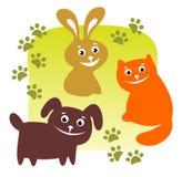 Geplaatste huisdieren royalty-vrije illustratie