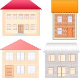Geplaatste huizen Royalty-vrije Stock Afbeeldingen