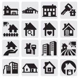 Geplaatste huizen Stock Afbeeldingen