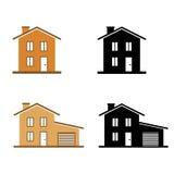 Geplaatste huizenpictogrammen Royalty-vrije Stock Foto