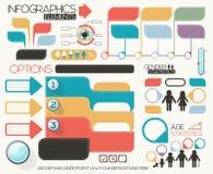 Geplaatste Infographicelementen Stock Afbeelding