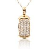 geplaatste juwelentegenhanger en oorringen Juwelensamenstelling Symbool van liefde Royalty-vrije Stock Afbeelding