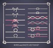 Geplaatste kabels en knopen Royalty-vrije Stock Foto's