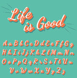 Geplaatste kalligrafie retro brieven Royalty-vrije Stock Foto