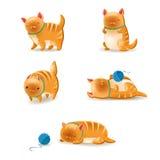 Geplaatste katten royalty-vrije illustratie